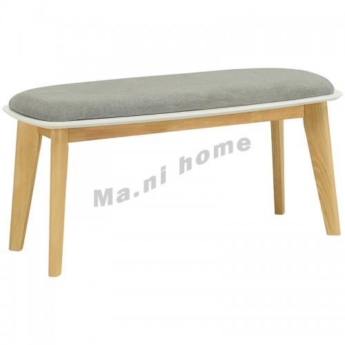 ARTHUR 長椅, 原木色, 深灰色布坐墊, 810267