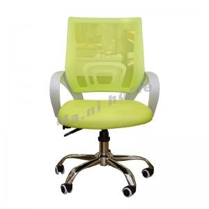 GOSH 工作升降轉椅, 中背, 白色+綠色, 金屬腳座, 810604