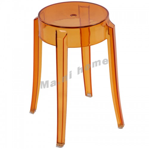 LINEA dining chair, transparent orange,800482