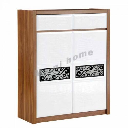 CUBO 800 shoes cabinet, oak veneer+gloss white,804891