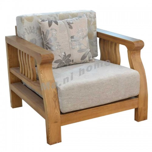 ONDA 800 1 seat sofa, light walnut color,806382