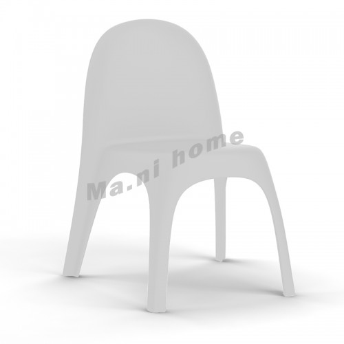 BALLOON dining chair, white