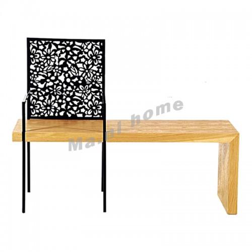 LOFT 1200 bench, oak veneer, black, 811975