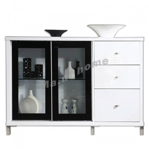 CUBO 1200 sideboard, gloss white,804925