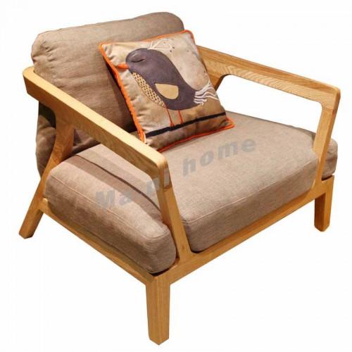 ALINE 900 1 seat sofa, white ash,100034