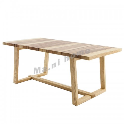 ALINE 1600 dining table, white ash+apple wood veneere,803733