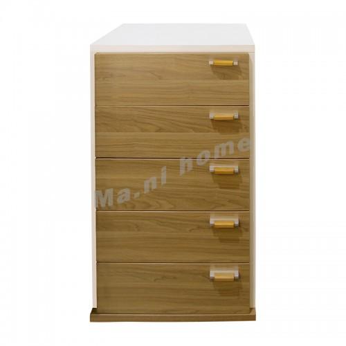 ONDA 600 chest of drawers, light walnut color, 806371