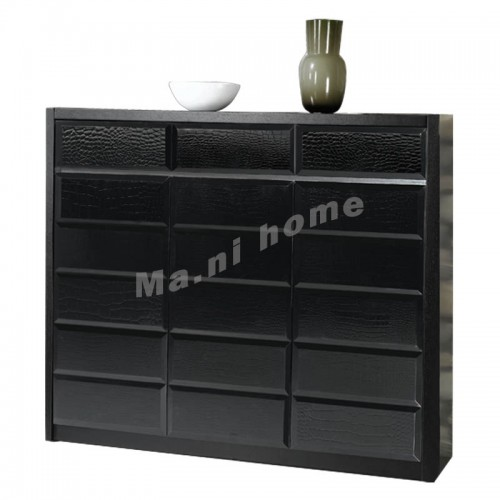 CUBO 1100 shoes cabinet, oak veneer+gloss black,804906