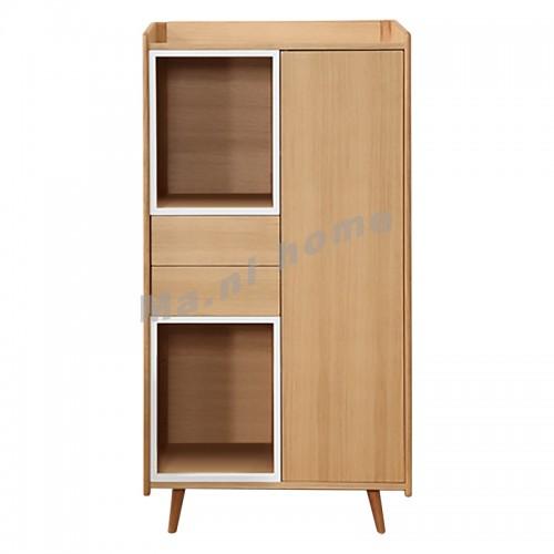 OTARU 760 cabinet,  oak veneer+white, 813512