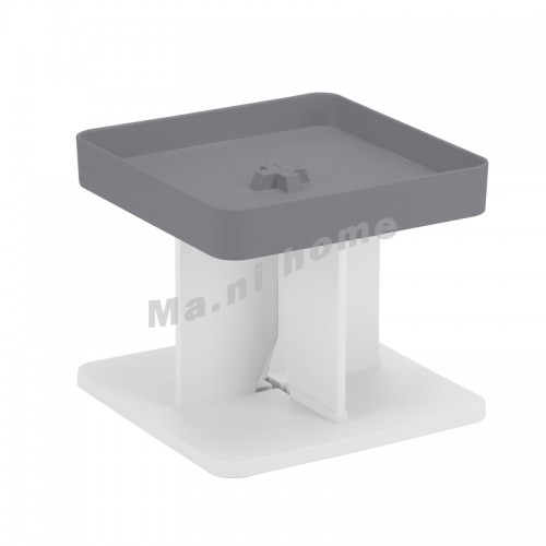 BUTTON 400 end table, gray, white, 814582