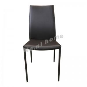 LELIA 仿皮餐椅, 啡色 , 813857